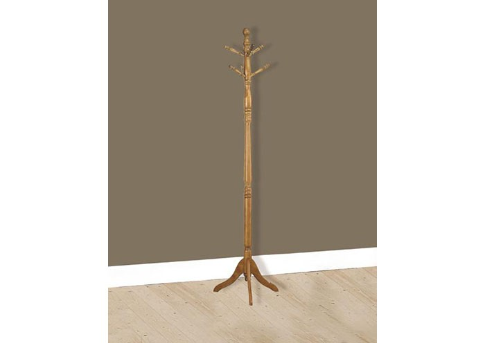 COAT RACK 40H OAK SOLID WOOD TRADITIONAL STYLE Coat Racks Simple Traditional Coat Rack