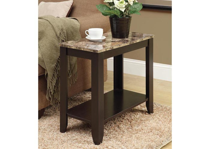 Accent Table Cappuccino Marble Top Accent Tables Accents
