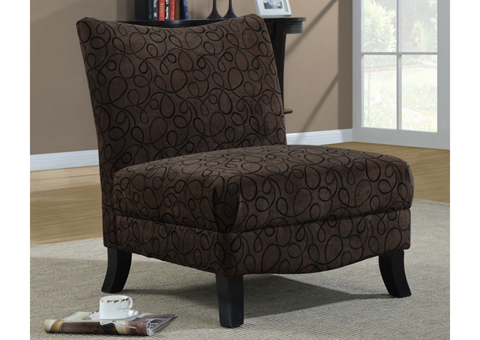 Accent Chair Brown Swirl Fabric Accent Chairs Accents