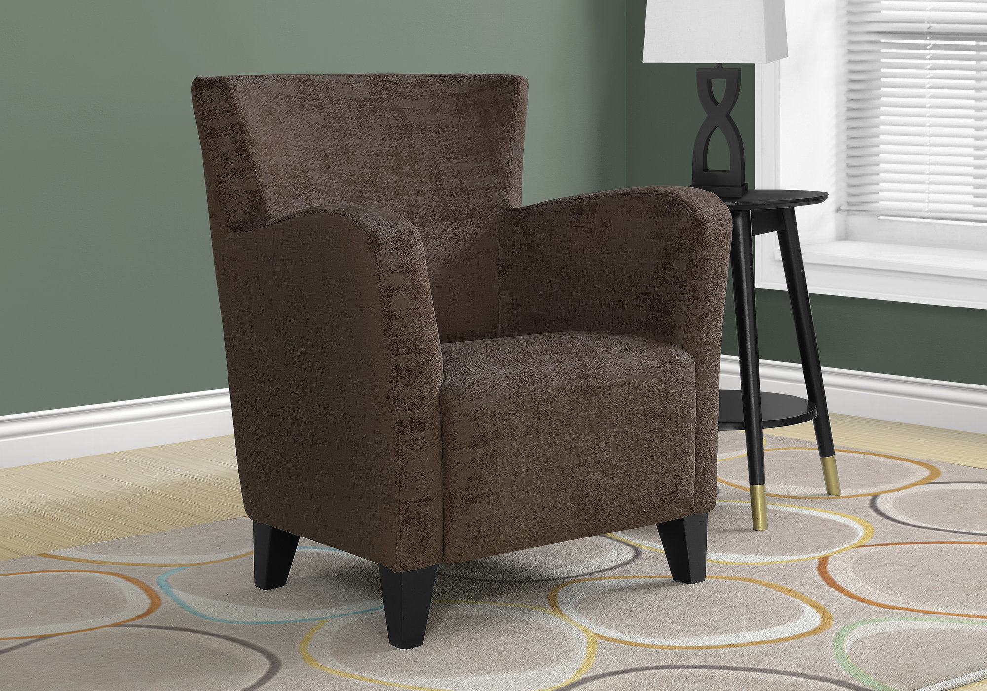 Accent Chair Brown Brushed Velvet Fabric Accent Chairs Accents Tag Warehouse