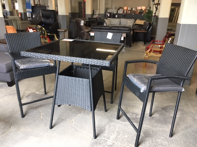 Groovy 5 Piece Outdoor Bar Height Dining Set Download Free Architecture Designs Boapuretrmadebymaigaardcom